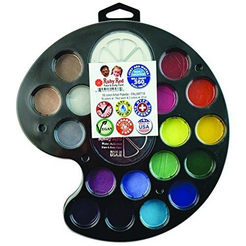Ruby Red Paint Face Paint, 2ML X 16 Colors & 18ML X 2 Colors - Artist Palette