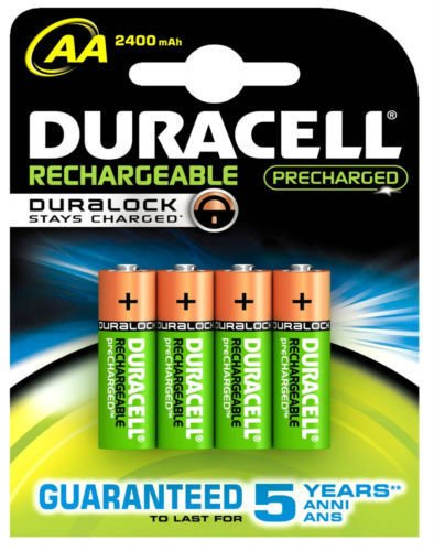 New 4x Duracell AA batterie ricaricabili 2400mAh pre Charged Nimah HR06