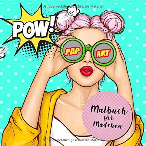 Malbuch für Mädchen - Pop Art: Mode Malbuch für Mädchen ab 12  | Teenager & Jugendliche | Ausmalbuch | Kreative Beschäftigung | Schwarzer Hintergrund | Geschenkidee | A4 | XXL 150Seiten