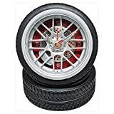 アラーム付き タイヤクロック ミニサイズ REH-CA608B-RE 赤