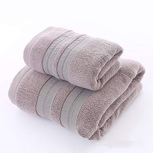 Shangfu Suministros de baño Toallas de Ducha de baño de algodón Grande Toallas de Gruesas Casa de baño (Color : Coffee, Size : 2 Pcs Set)