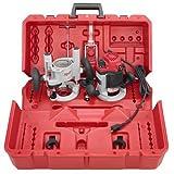 Milwaukee 5616-24 2-1/4 Max-Horsepower EVS Multi-Base Router Kit Includes Plunge Base...