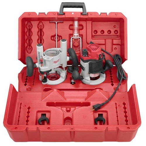 Milwaukee 5616-24 2-1/4 Max-Horsepower EVS Multi-Base Router Kit Includes Plunge Base and BodyGrip Fixed Base
