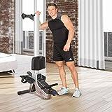HAMMER Rudergerät RX1 für zu Hause – klappbare Rudermaschine mit Magnetbremssystem, kugelgelagertem Sitz, bis 110 kg Nutzergewicht und integriertem Pulsempfänger für Brustgurte - 6