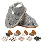 myppgg Baby Boys Sandals Soft Rubber Sole Non-Slip Summer Baby Boy Shoes Toddler Infant Closed Toe Flat Shoes First Walkers, 20g10 Grey, 6-12 Months Infant