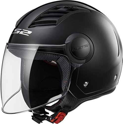 CASCO ECONÓMICO LS2 AIRFLOW COLOR NEGRO MATE, TALLA S
