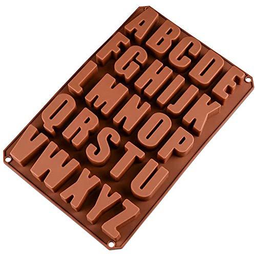 SUNSK Stampo in silicone per lettere Stampo in Cioccolato 26 Lettere Stampi per dolci Stampo in Muffin Stampo per caramelle Stampo in Sapone Casa e cucina Stampi con forme particolari