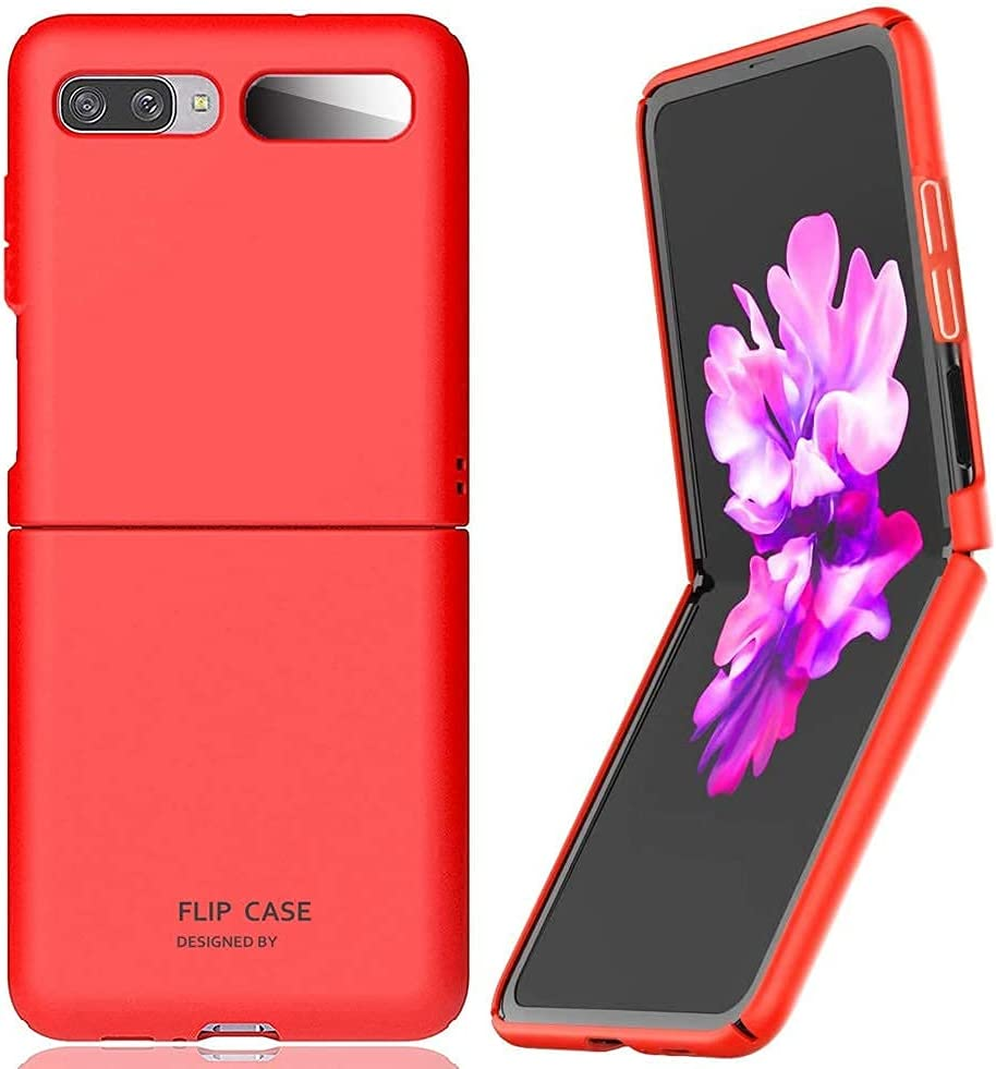 for Samsung Galaxy Z Flip(5G Compatible) Case Cover Ultra-Thin Hard Shell Slim Full Protection (Red)【Not for Z Flip 3】