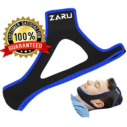 Premium Anti Snore Chin Strap by ZARU [2020 Upgraded Version] - Advanced Snoring Solution Scientifically Designed to Stop Snoring Naturally and Give You The Best Sleep of Your Life
