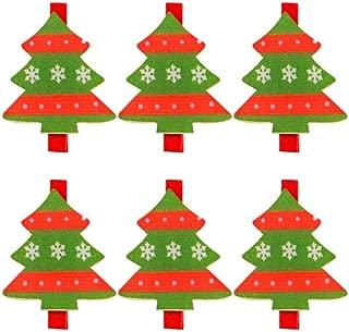Kırmızı Yeşil Ağaç Mandal 5 x 4cm 6 lı