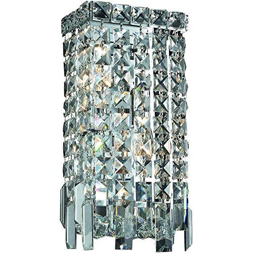 Elegant Lighting V2033W6C/SA Maxime - Two Light Wall Sconce, Crystal Style Options: Clear Spectra Swarovski
