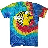 Pokemon Mens Pikachu Game Shirt - Gotta Catch Em All - Official Tie Dye T-Shirt (Tie Dye, X-Large)