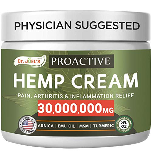 Proactive Pain Relief Cream - 30,000,000 Extract - Maximum Strength Muscle, Joint & Arthritis Relief Cream - Made & 3rd Party Tested in USA