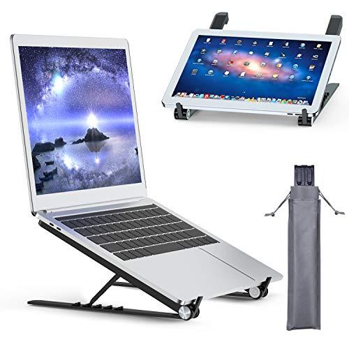 Tendak Supporto per laptop,laptop pieghevole,supporto portatile portatile,supporto per notebook,supporto per laptop regolabile,staffa dal design ergonomico,adatto per laptop/tablet da 9,7-17,3 pollici