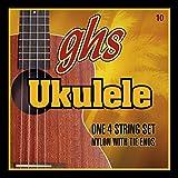 GHS UKULELE CLEAR NYLON 10 Jeu De Cordes - Hawaiien D-Tuning