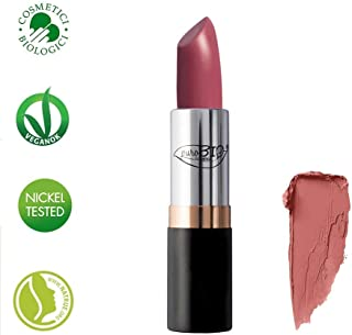 PUROBIO - Lipstick - Solid colours with a semi-matte finish - 02 Pink Sand - Organic, Vegan, Nickel Tested, made in Italy