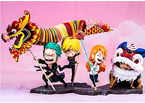 GLJJQMY Spielzeug Modell Anime Charakter One Piece Dekoration Souvenir Sammlerstücke Kunsthandwerk Geschenke Modell Spielzeug (Farbe   C)