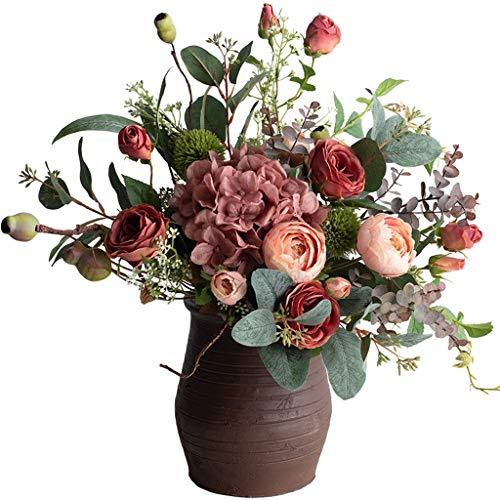 LHY- Gefälschte Blumen-Licht-Luxus-Simulation Bouquet Rosen Wohnzimmer Esstisch Gefälschte Blumen-Set Silk Blumen-Dekoration Mode