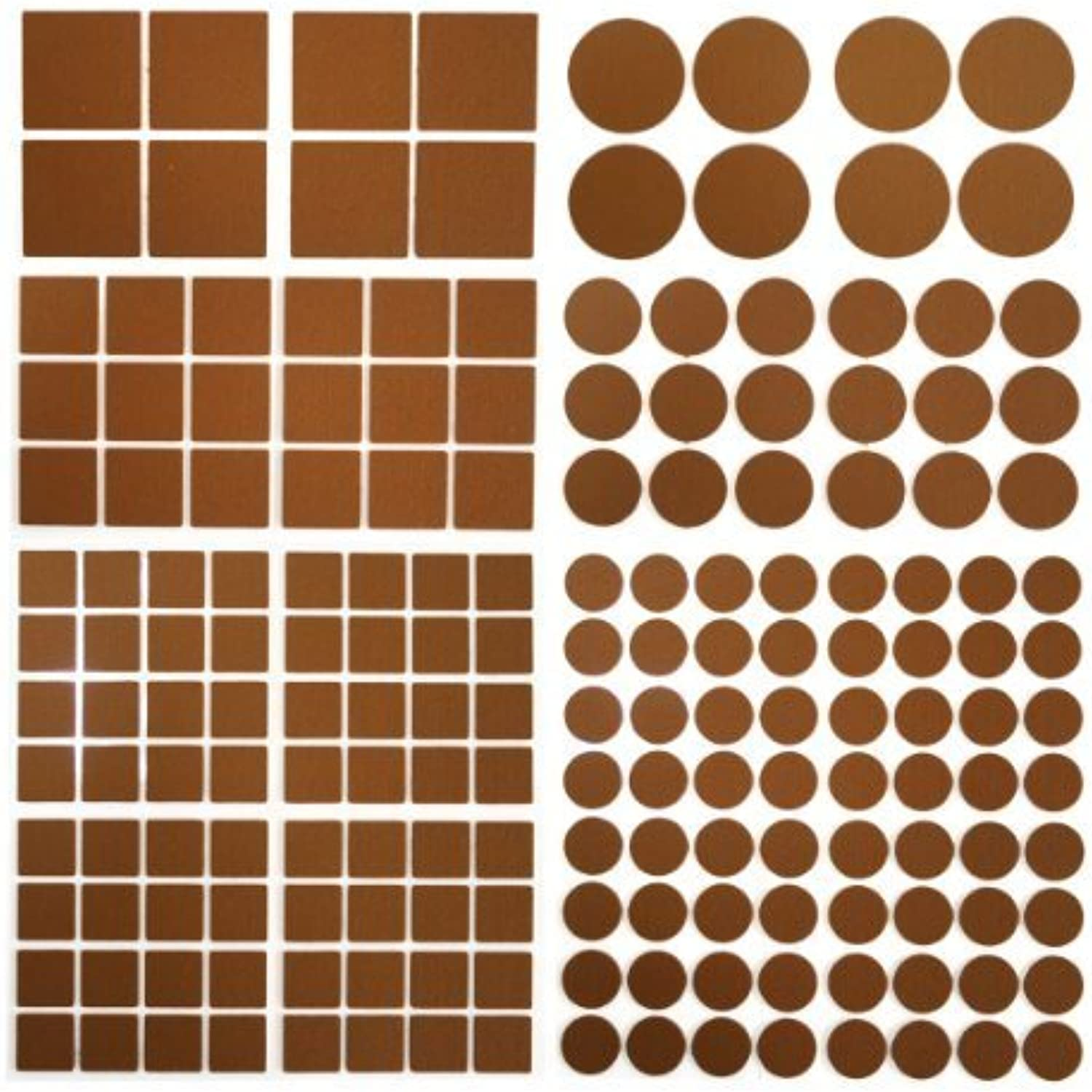 180Piece Anti-Skid Brown-Chair Leg Floor Predector Pads Felt Pad - Furniture (180pcs) by TheJD