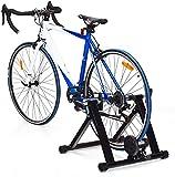 DREAMADE Rullo per Bicicletta Allenamento in Casa,Rullo per Allenamento Bici Pieghevole con Carico di 150kg, Trainer Bicicletta da Interno, Nero
