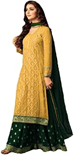 Ready Made Designer Indian/Pakistani Ethnic wear Georgette Plaazo Salwar kameez plus size 47001
