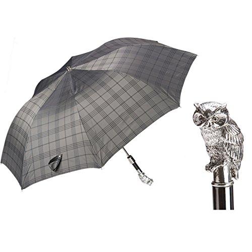 Pasotti Ombrelli Silver Owl Folding Umbrella W44