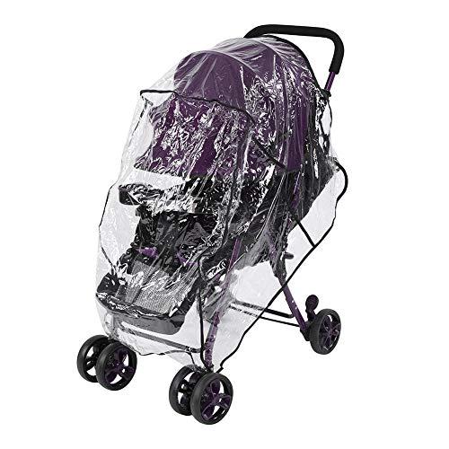 ViaGasaFamido bébé Poussette Housse de Pluie Stroll Rain Cover, Accessoires pour poussettes pour bébé Protection Transparente Contre la Pluie, Housse imperméable, Anti-poussière