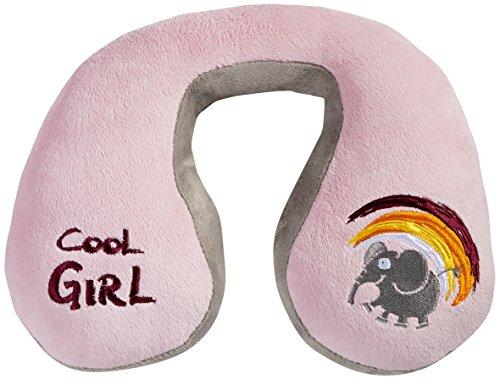 Walser 30754 Cool Girl Nackenhörnchen, Nackenkissen Kinder, Reisekissen, rosa