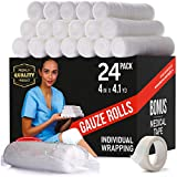 Premium Gauze Bandage Roll - 24 Pack - Gauze...