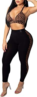 Pandapang Womens Deep V Neck Sleeveless Rhinestone Club Bodycon Shorts Jumpsuits Rompers