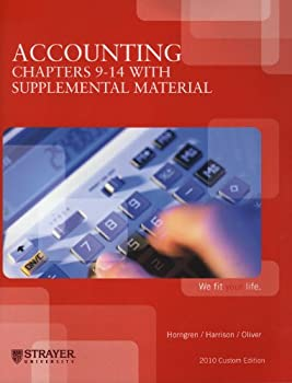 Paperback Accounting Chapters 9-14 (Strayer University) Book