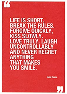 Mark Twain Quote Life is Short Tree-Free Greetings Birthday Card