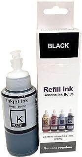 Tinta Compatível Corante para Epson Ecotank / L200 L210 L220 L355 L365 L375 L555 L575 L800 L1300 / Preto/Refil 70ml