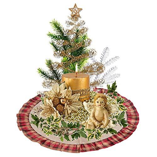 Hoomall Rot Baumdecke Weihnachtsbaumdecke Weihnachtsbaum Rock Christbaumdecke Christbaumständer Teppich Decke Deko 122 cm (Dunkelrot)