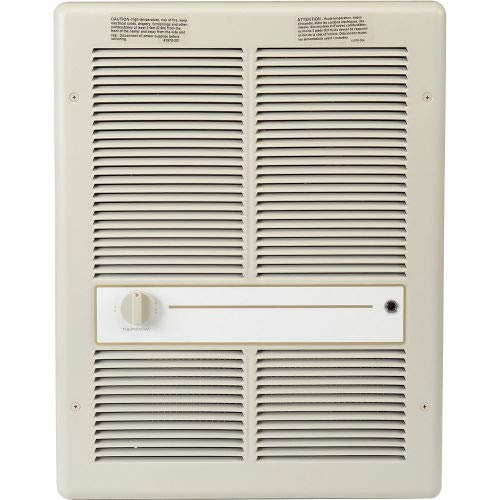 Great Features Of TPI Fan Forced Wall Heater HF3316TRP - 4000/3000/2000/1500W 240/208V Ivory