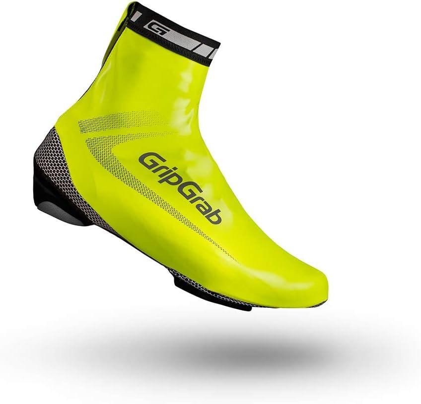 GripGrab Raceaqua Road Bike Rain Aero Overshoes Waterproof Windproof Cycling Shoe-Covers Sleek Tight Fitting Gaiters Cubrebotas Ciclismo, Unisex Adulto