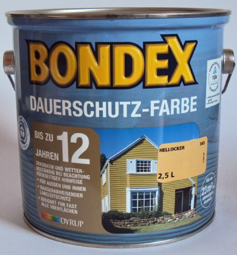Bondex Dauerschutzfarbe, Hellocker 345 / 3 Liter