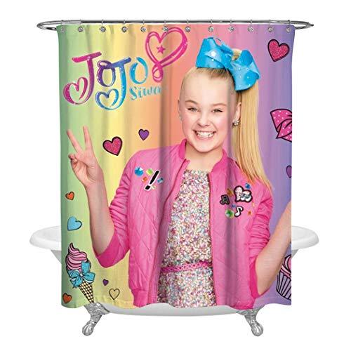 285 JoJo Si-wa Shower Curtain Waterproof Washable Bath Curtain Novelty Decor Curtains for Bathroom 60 X 72 Inch