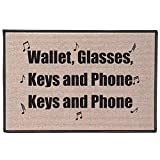 WHAT ON EARTH Wallet, Glasses, Keys and Phone Doormat - Funny Welcome Mat Door Mat, 27' x 18'
