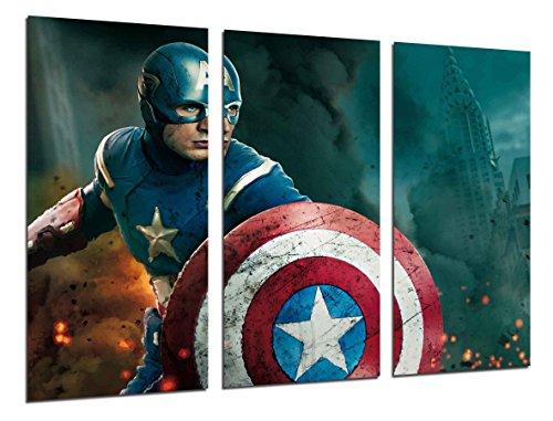 Poster Fotográfico Capitan America, Los vengadores, Cine Tamaño total: 97 x 62 cm XXL