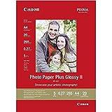 Canon consumible papel fotográfico con brillo plus II PP-201 A4 20 hojas