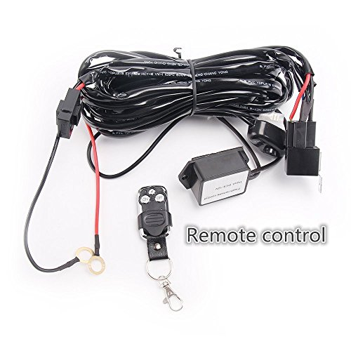 Lumitek Led Light Bar Remote Control Wiring Harness Kit 40A 12V ON/Off Switch Relay for Driving Lights Fog Lights Bar…