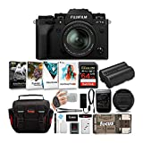 Fujifilm X-T4 Mirrorless Digital Camera with XF 18-55mm Lens Kit (Black) with 64GB Pro Memory Card, Essential Accessories and Software Bundle (5 Items)