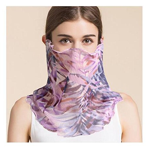 BGFDRNFDGM Verano Nuevo pañuelo de Seda pañuelo de Seda Seda Hembra máscara de protección Solar Variedad Collar Collar Collar Falso Bufandas