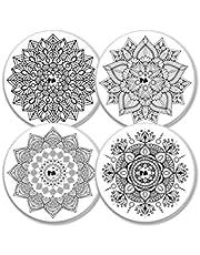 MySweetStitch   Freestyle Libre Sensor Sticker Set van 4 Mandala   met opening voor ventilatie van de huid
