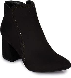 Bruno Manetti Women Suede Black Heel Boots
