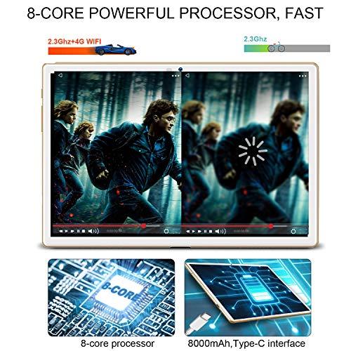 Duoduogo A39+ Tablette 8 cœurs 4G LTE Android 9.0 10,1