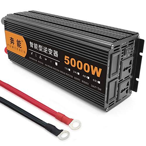 Power Inverter Onda Sinusoidale Pura 3200W 4000W 5000W 6000W 8000W 9000W 12000W 15000W Trasformatore Potenza Convertitore DC 12V 24V in AC 220V 230V Invertitore Tensione,Onda Pura Inverter,5000W-24V