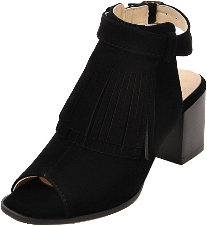 TAOFFEN Women's Back Strap Sandals shoes Heels