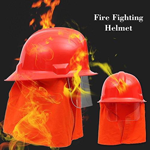 KKmoon Antincendio Casco di Sicurezza Caschi da Fuoco di Scossa Elettrica Prevenzione Ignifugo Resistenza Pierce
